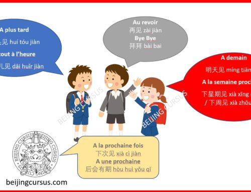 Les différentes façons de dire au revoir en chinois